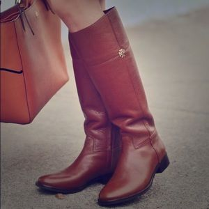 Tory Burch Jolie Riding boots size 8 brown